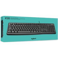 Teclado LOGITECH Keyboard K120,USB, negro