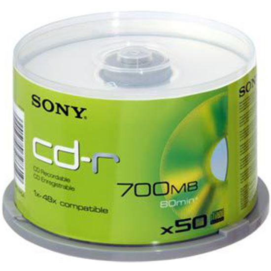 Disco datos Sony 50CDQ80NSPMD, Cd-Rs, 700 Mb. (80