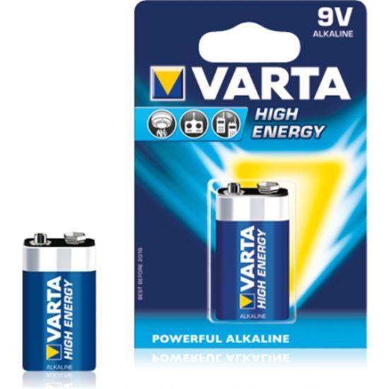 PILA VARTA 6LR61 BLx1 ALC. HIGH ENERGY 9V 220818