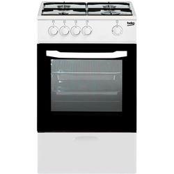 Cocina conv. Beko CSG42009DW, 4 fuegos, horno y grill gas, 85x50x50cm, Blao