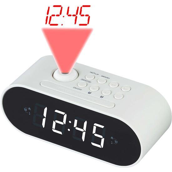 DESPERTADOR DEVER 225365 CRP717 WHITE DISPLAY LED 2.2CM FM PROYECCION