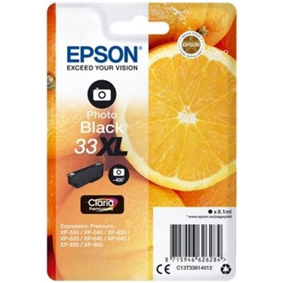CARTUCHO TINTA PHOTO NEGRO EPSON 33XL - 8.1ML - NARANJA - COMPATIBILIDAD S
