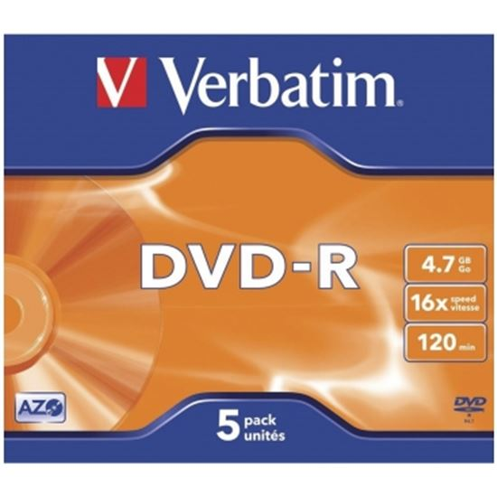 DVD-R VERBATIM ADVANCED AZO 16X 4.7GB 5 UNIDADES
