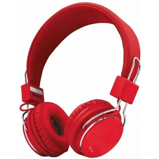 Auriculares Diadema Trust Ziva Manos Libres Rojos