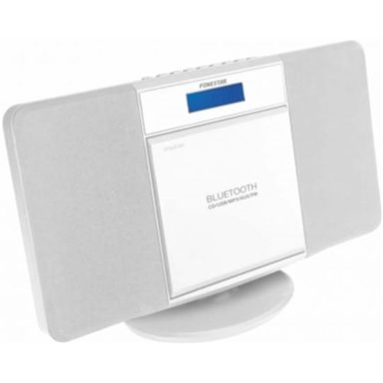 MICROCADENA FONESTAR FLAT-B BLANCA - BT - 2X3W - FM - REPRODUCTOR CD/USB/MP