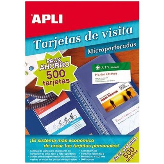 CAJA DE TARJETAS DE VISITA APLI 11705 - PACK AHORRO - 10X A4 - 90 X 50.8MM