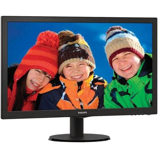 "MONITOR LED PHILIPS V-LINE 243V5LHAB 23.6""/ 59.9CM FULLHD 5MS 1000:1 250CD/"