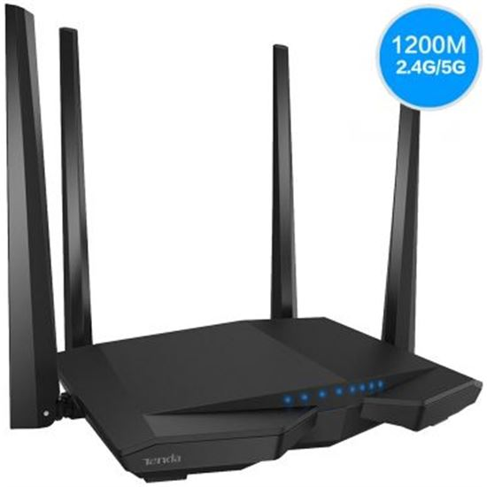 ROUTER INALÁMBRICO TENDA AC6 - 802.11AC - HASTA 1167MBPS - 5/2.4GHZ - CHIPS