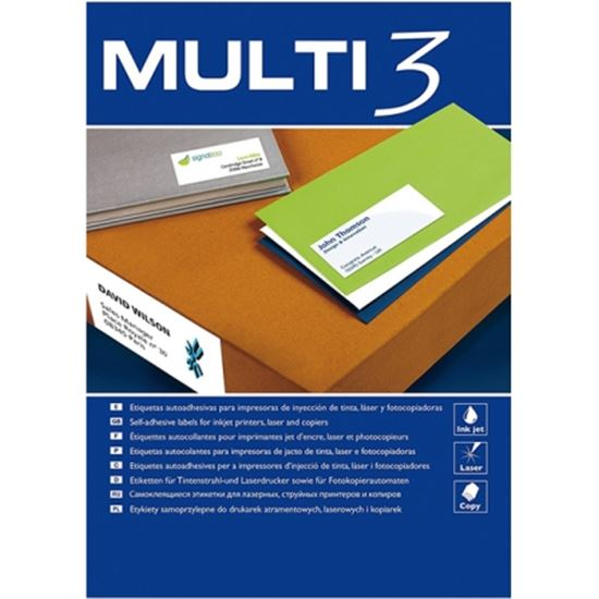 ETIQUETAS ADHESIVAS APLI 4719 MULTI3 - PARA INKJET/LASER/FOTOCOPIADORA - ET