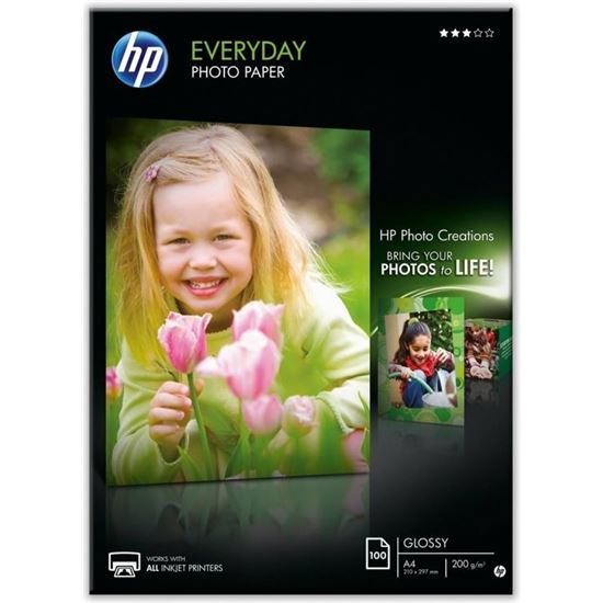 PAPEL FOTOGRÁFICO CON BRILLO HP EVERYDAY Q2510A - 100 HOJAS/A4/210 X 297 MM