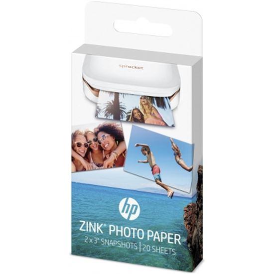 PAPEL FOTOGRÁFICO ADHESIVO HP W4Z13A ZINK SPROCKET - 20 HOJAS/5X7.6CM