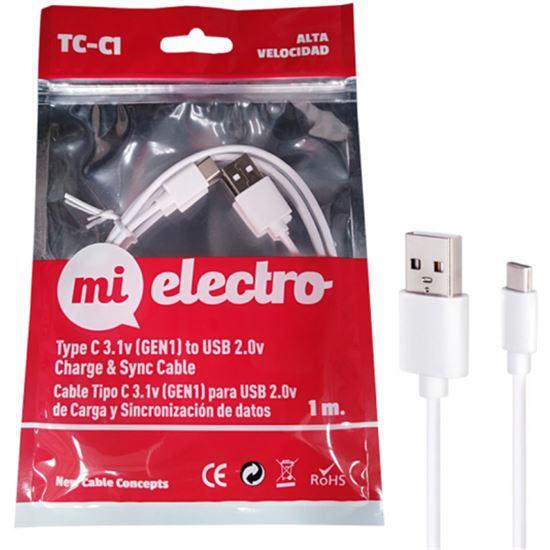 CABLE MI ELECTRO TC-C1 USB-C 3.1 - USB-A 3.0