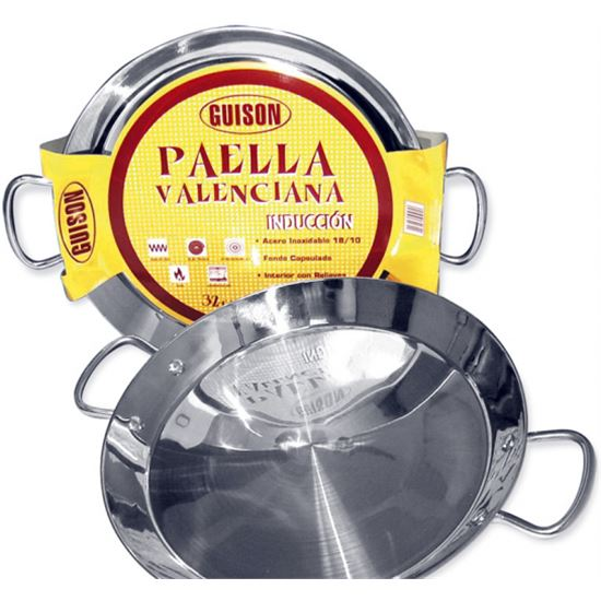 PAELLERA GUISON 46CM INOX INDUCCION