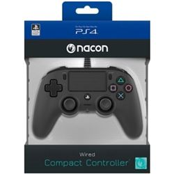 MANDO PARA PS4 NACON COMPACT CONTROLLER BLACK - PANEL TÁCTIL - CONECTOR EST