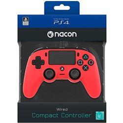 MANDO PARA PS4 NACON COMPACT CONTROLLER RED - PANEL TÁCTIL - CONECTOR ESTÉR