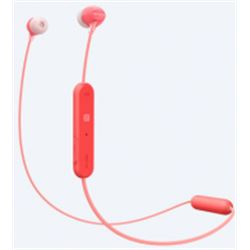 AURICULARES SONY WI-C300 BLUETOOTH RED