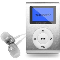 "REPRODUCTOR MP3 SUNSTECH 1.1"" 4GB + FM PLATA"