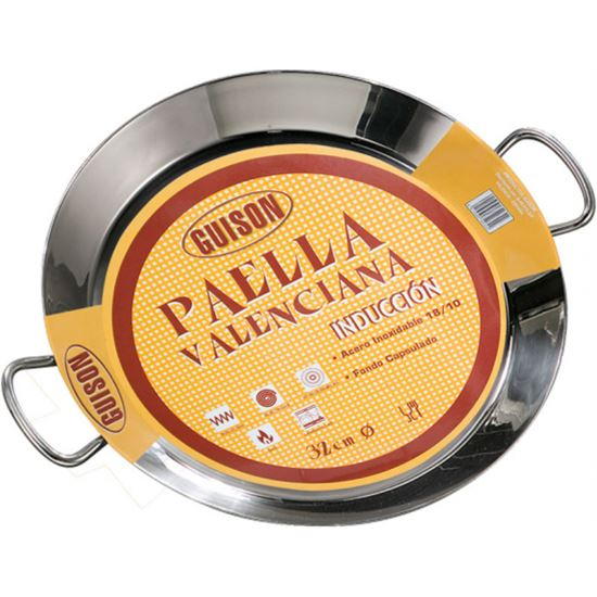 Paellera guison 40cm inox induccion