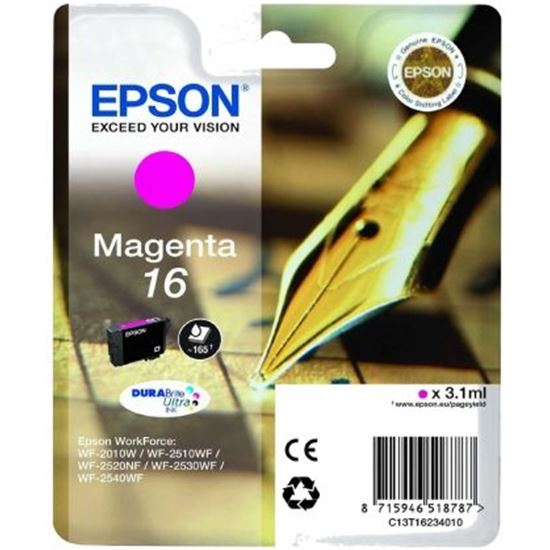 Cartucho tinta EPSON C13T16234010 Magenta (Bolígr)