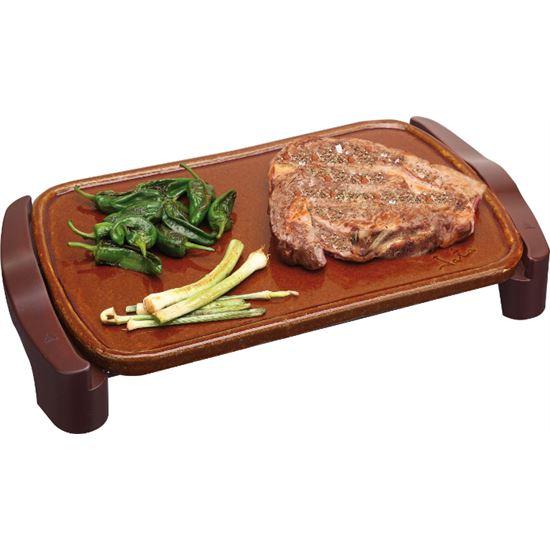 Plancha cocina Jata GR559, Terracota 46x28cm