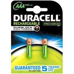 PACK 2 PILAS RECARGABLES AAA (LR03) DURALOCK 800 DURACELL
