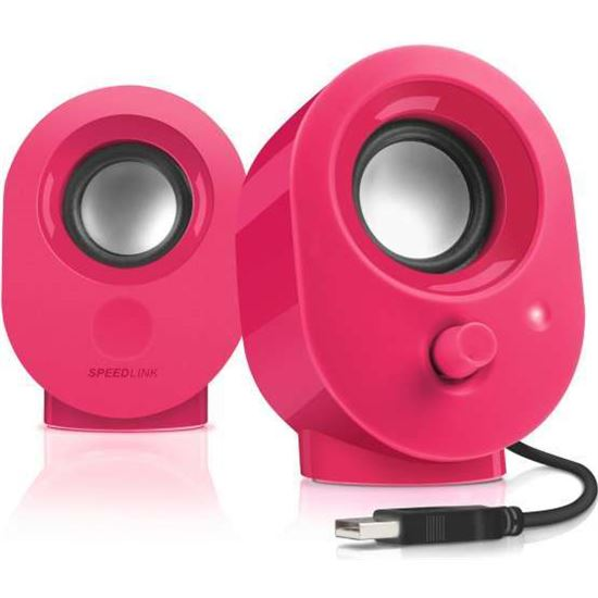 SNAPPY Stereo Speakers, Berry
