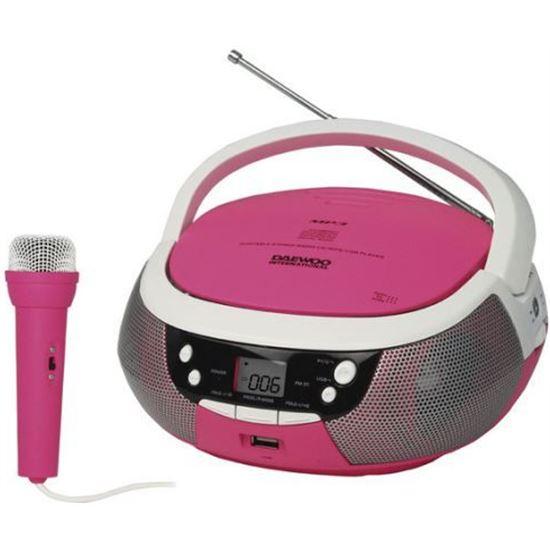 Radio CD Daewoo DBU59 USB MP3 Karaoke Rosa