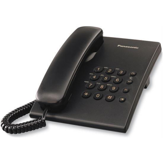 Telefono Panasonic KXTS500EXB, analogico, negro