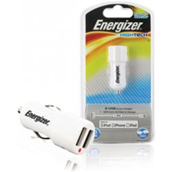 CARGADOR ENERGIZER COCHE USB+CABLE DATOS APPLE 2AM