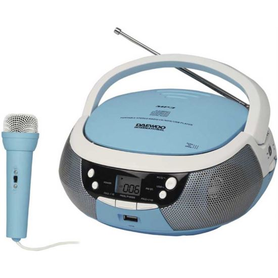 Rad/cd daewoo dbu-59 blue usb mp3 karaoke bl