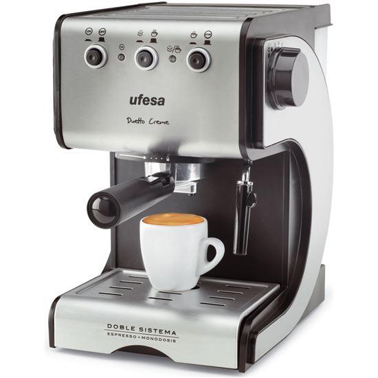 Cafetera espresso Ufesa CE7141, 1050w, 2 tazas, 1s