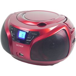 Rad/cd denver tcu-206 rojo aux usb mp3 fm