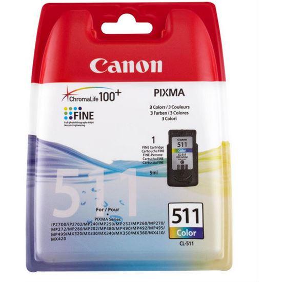 Tinta Tricolor CANON CL511 2972B001
