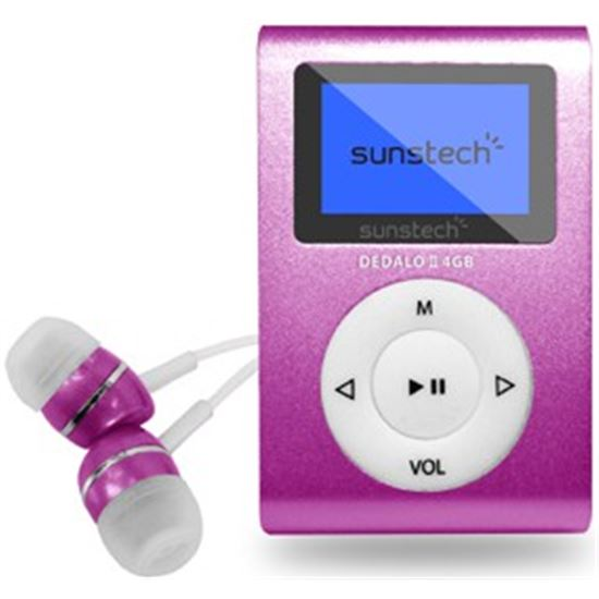 "REPRODUCTOR MP3 SUNSTECH DEDALOIII4GBPK 1.1"" 4GB ROSA"