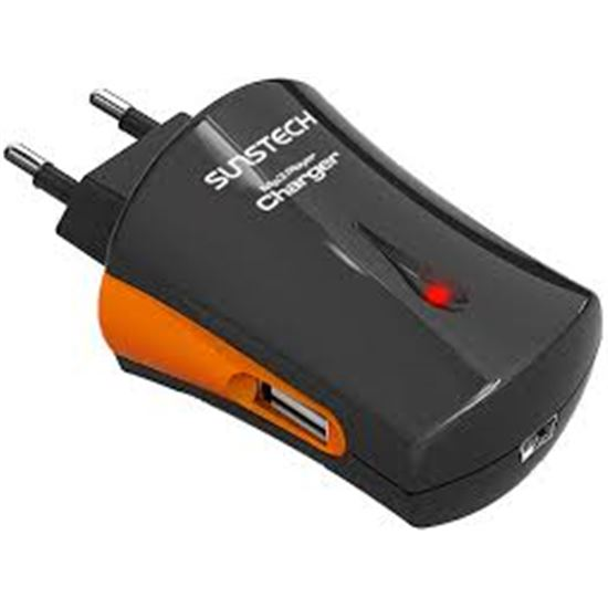 Cargador USB/10 ADAPT ACU3000BLKSILV SUNSTECH