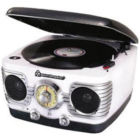 TOCADISCOS CON RADIO SOUNDMASTER NR486 ESTILO RETR