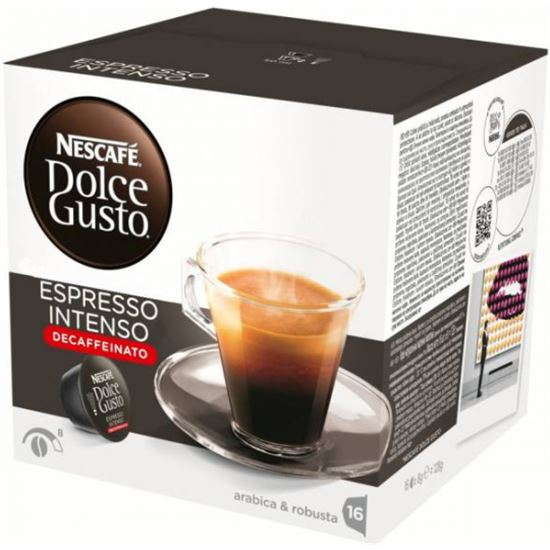 Cafe ESPRESSO INTENSO DESCAFEINADO DOLCE GUSTO 12281252 16 capsulas.