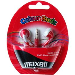 AURICULARES MAXELL COLOUR BUDS RED M138