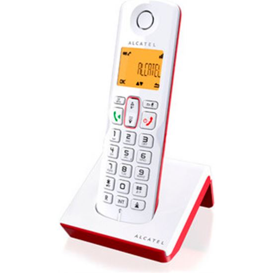 TELEFONO ALCATEL S250 RED/WHITE DECT M. LIBRES